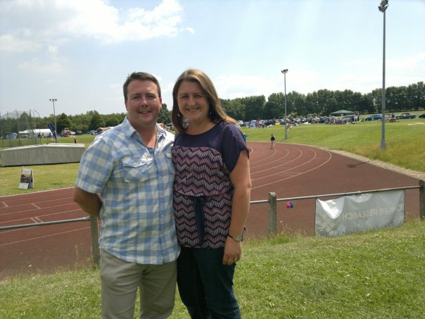 With my wife Tracy who is taking part in this year's Relay For Life - Click Here to support Tracy
